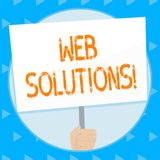 Word writing text Web Solutions. Business concept for program over network and accessible through web browser Hand vector illustration