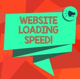 Word writing text Website Loading Speed. Business concept for time takes to display the entire content of a webpage royalty free illustration