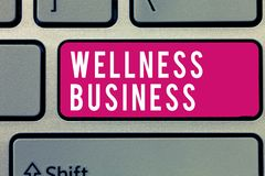 Word writing text Wellness Business. Business concept for Professional venture focusing the health of mind and body.  royalty free stock photography