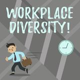Word writing text Workplace Diversity. Business concept for Different race gender age sexual orientation of workers. Word writing text Workplace Diversity royalty free illustration
