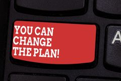 Word writing text You Can Change The Plan. Business concept for Make changes in your plans to accomplish goals Keyboard. Key Intention to create computer stock photos