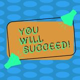 Word writing text You Will Succeed. Business concept for Inspiration motivation to keep working be positive Two. Word writing text You Will Succeed. Business vector illustration