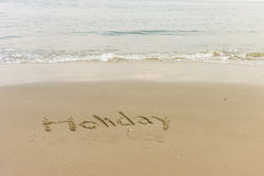 Word written in the beach Royalty Free Stock Images