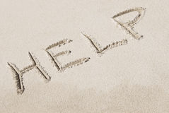 Word Written in Sand Royalty Free Stock Photos