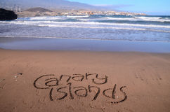 Word Written on the Sand Stock Images