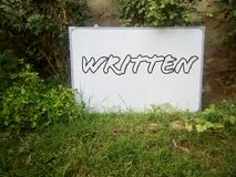 The word written on the white board. Word written white board text font letter royalty free stock photography