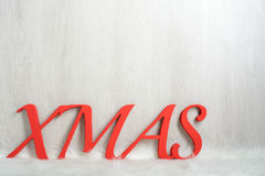 The word XMAS in red Royalty Free Stock Photo