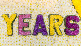 Word Years is made from flowers. Color Word Years is made from flowers Stock Image