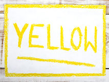 Word YELLOW Royalty Free Stock Images