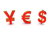 The word yes out of the currency Stock Images