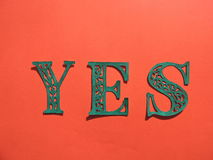 Word YES. Paper cutting. Royalty Free Stock Image