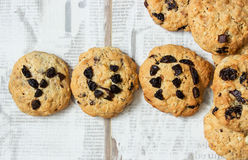 The word yum spelt out on cookie Stock Photography