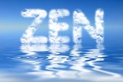 Word ZEN in wolken Stock Foto's