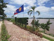 Wordart de bonsaïs de nom de ville de Vientiane Image stock