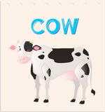 Wordcard with cow smiling Stock Photos