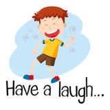 Wordcard dla śmiech ilustracji