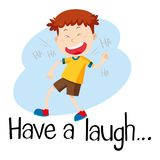 Wordcard for have a laugh. Illustration vector illustration