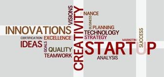Wordcloud για την επιχείρηση και την οικονομία Στοκ Εικόνες
