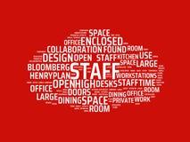 Wordcloud с главным штатом слова и связанными словами, абстрактной иллюстрацией стоковое изображение