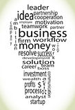 Wordcloud business lightbulb Stock Images
