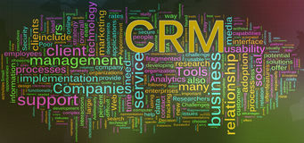 Wordcloud of CRM. Words in a wordcloud of CRM - Customer relationship management Royalty Free Stock Images