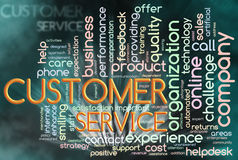 Wordcloud of customer service. Illustration of wordcloud representing words related to 'customer service Stock Photos