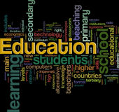 Wordcloud d'éducation Image stock