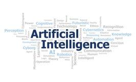 Wordcloud d'intelligence artificielle illustration stock