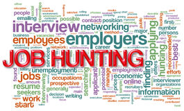 Wordcloud da caça de trabalho Foto de Stock Royalty Free