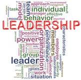 Wordcloud da liderança Imagens de Stock