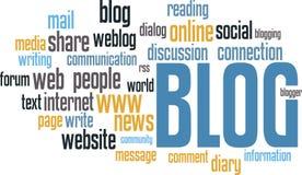Wordcloud de BLOG Photographie stock libre de droits