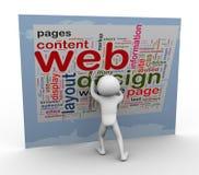 Wordcloud de conception de Web illustration stock