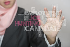 Wordcloud de Job Hunting Fotos de archivo
