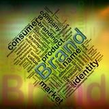 Wordcloud de marque Images libres de droits