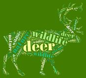 Wordcloud of deer Stock Images
