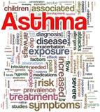 Wordcloud del asma Imágenes de archivo libres de regalías