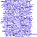 Wordcloud del concepto del fondo Foto de archivo