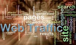 Wordcloud del tráfico del Web Fotos de archivo libres de regalías