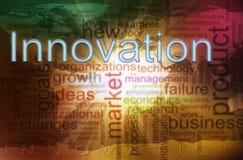 Wordcloud dell'innovazione Immagine Stock