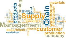 Wordcloud della gestione di catena di rifornimento Fotografie Stock
