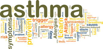 Wordcloud di asma Fotografia Stock Libera da Diritti