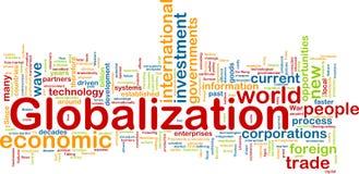 Wordcloud di globalizzazione Fotografia Stock