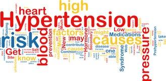 Wordcloud di ipertensione Fotografia Stock Libera da Diritti