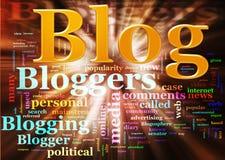 Wordcloud do blogue ilustração stock