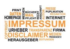 Imprint Wordcloud royalty free stock photos
