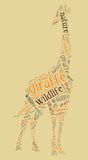 wordcloud giraffe иллюстрация штока