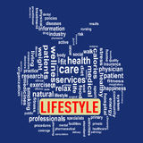 Wordcloud healthcare apple concept lifestyle Royalty Free Stock Image