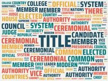 Wordcloud med den huvudsakliga ordtiteln och de förbundna orden, abstrakt illustration royaltyfri foto
