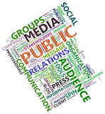 Wordcloud of public relation Royalty Free Stock Image