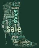 Wordcloud: Schattenbild der Schuhe Lizenzfreies Stockfoto